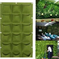 9/18/36 Pocket Vertical Greening Hanging Wall Garden Plant Grow Bag Planter HOT