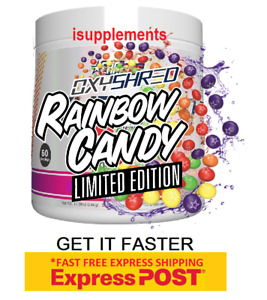 Ehplabs Oxyshred Rainbow Candy Limited Edition Flavour Free Express Shipping