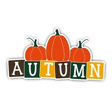 Autumn Pumpkin Halloween Vinyl Wall Windows Laptops Car Notebook Decal Sticker