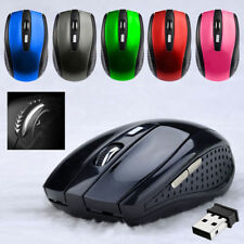 2.4GHz Wireless Cordless Mouse Mice Optical Scroll For PC Laptop Computer Black