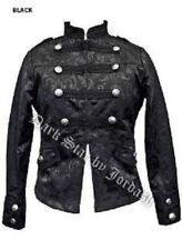Ladies Black Military Gothic Steampunk Victorian Brocade Jacket Coat Size 10-14