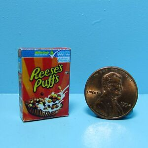 Dollhouse Miniature Replica box of Reese's Puffs Cereal G068