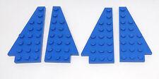 Lego 4 x Flügelplatte 3933 3934 blau Classic Space