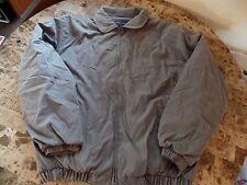 mens CROFT & BARROW WINTER COAT olive gray FLEECE LINED XLT XL TALL warm jacket
