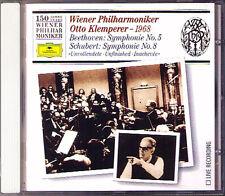 KLEMPERER: BEETHOVEN Symphony No.5 SCHUBERT 8 WPO 150 CD Wiener Philharmoniker