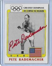 "RARE 1983 TOPPS OLYMPICS PETE RADEMACHER ""RED"" AUTOGRAPH AUTO BOXING CARD #43"