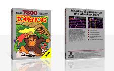 Donkey Kong Atari 7800 Reproduction Game Case Box + Cover Art Work (No Game)