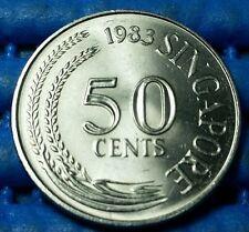 1983 Singapore 50 Cents Lion Fish Coin