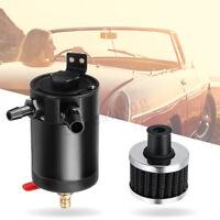 Billet Aluminum Car Engine Oil Catch Breather Tank Can Kit Filter Diesel