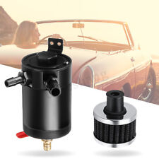 Billet Aluminum Car Engine Oil Catch Breather Tank Can Kit Filter Diesel Turbo
