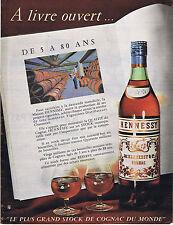 PUBLICITE ADVERTISING 094 1958 HENNESSY le plus grand stock de cognac du monde