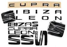 Folie Emblem Set vo+hi Schriftzug Leon Cupra Schwarz Glanz für Seat 5F SC ST FR