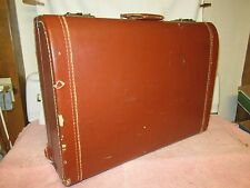 """Vintage Brown LEATHER LUCE 24"""" Suitcase"""