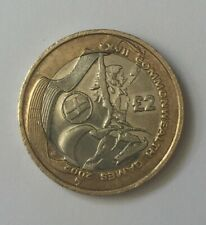 2002 £2 TWO POUND COIN ENGLAND COMMONWEALTH GAMES CIRCULATED