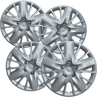 "4 PC Hubcaps Fits 14-18 Chevrolet Impala 18"" Silver Replacement Wheel Rim Cover"