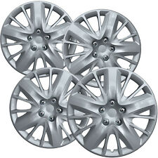 """4 PC Hubcaps Fits 14-18 Chevrolet Impala 18"""" Silver Replacement Wheel Rim Cover"""