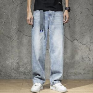 Hommes Jambe Large Jean 80s Vintage Droit Pantalon Jeans Pantalon Slim Cow-Boy