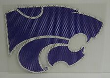 6-Inch Kansas State Wildcats Logo Perforated Vinyl Window Graphic