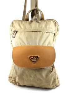 Maison Mollerus Beige Nylon Backpack Women's Handbag