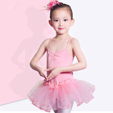 Girls Ballet Dancing Skirt Tutu Dress Dance Shows Ballerina Fancy Costume Outfit