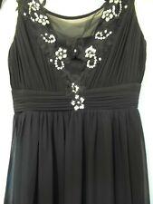 Size 16- Long BLACK Evening PROM DRESS Sleeveless Sparkle sequin detail formal