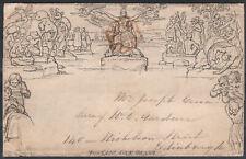 1840 1d MULREADY LETTERSHEET RED MALTESE SCOTTISH CROSS DUMFRIES TO EDINBURGH