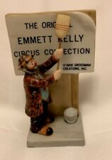 Grossman Emmett Kelly Porcelain Circus Figurine - Cleaning the Sign.