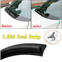 1.8M Rubber Trim Seal Strip For Car Front Windshield Hood Roof Deflector Spoiler