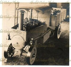 OLD GARRETT OF LEISTON STEAM WAGON / LORRY AT AN AGRICULTURAL SHOW VINTAGE C1908