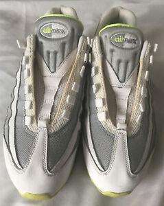 AIR MAX '95 White & Grey & Stadium Green Athletic Trainer 609048-138 Sz 10.5