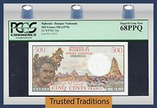 Tt Pk 36a 1979 Djibouti 500 Francs Pcgs 68 Ppq Superb Gem Pop Two In This Level!