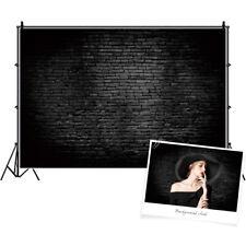 Black Retro Brick Wall Photography Backdrops 3x2ft Vinyl Theme Backgrounds Props