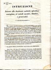 Z24-LOMB.VENETO-VETERINARIO ISTRUZIONI CONTRO CANCRO VOLANTE 1833