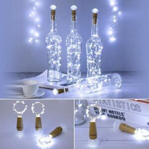 Bright White Wine Bottle Cork Fairy String LED Lights Wedding Party Decor Lamps