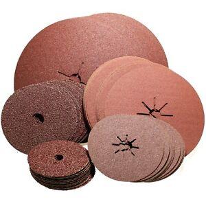 "25 x 125mm 5"" Angle Grinder Abrasive Fibre Sanding Discs (Select Grit)"