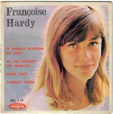 FRANÇOISE HARDY Le premier bonheur du jour 1963 Repress avec gros trou EP Vogue