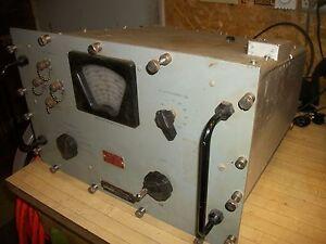 Vintage RF Tuner Meter Model TN188/UPM Military Lavoie Industries - Giant