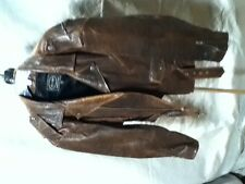 Men's Brown Leather Motorcycle Jacket-Tannery West