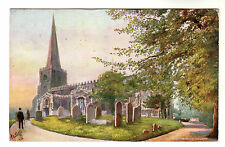 Harrow Church - Art Postcard 1907 / Tucks Oilette