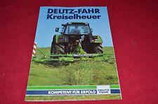 Deutz Fahr Hay Equipment Buyers Guide Dealers Brochure GDSD in German