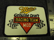 Miller Genuine Draft MGD Racing Team Small Cloth Patch