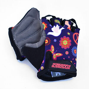 ZippyRooz Peace Toddler/ Little Kids Bike Glove Sport Half Finger Girls Boys