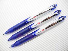 3 x Pilot V-BALL RT Retractable Roller Ball Pen 0.5mm Extra Fine, BLUE