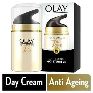 Olay Total Effects Day Cream Moisturiser 7-In-1 Anti-Ageing SPF15 Hydrating 50ml