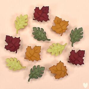 BUTTONS GALORE Fall Leaves 4632 - Autumn Maple Oak Garden DRESS IT UP