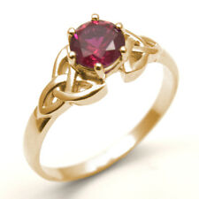 Trinity Knot Ring 1ct Ruby Diamond Unique 9ct Gold White/Yellow