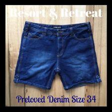 Denim, Nana Judy Shorts, Size 34 Preloved, Blue, Great Cond.
