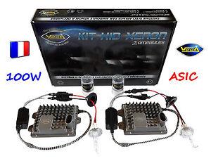 ✨ Kit HID Xénon VEGA® 100W ASIC 2 ampoules H7 6000K Marque Française ✨