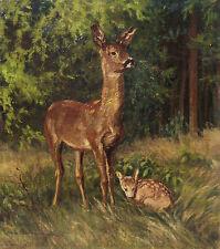 Hans HERMANN (1885-1980 )attr. Reh mit Kitz 1956.