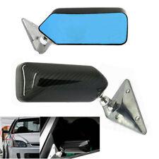 2x Universal Race Door Mirrors Carbon Fiber Car Rear Side View Mirror Glareproof